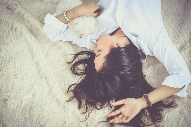 girl woman sleep
