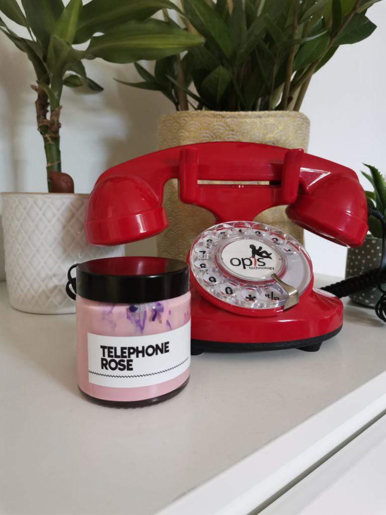 telephone rose blash art